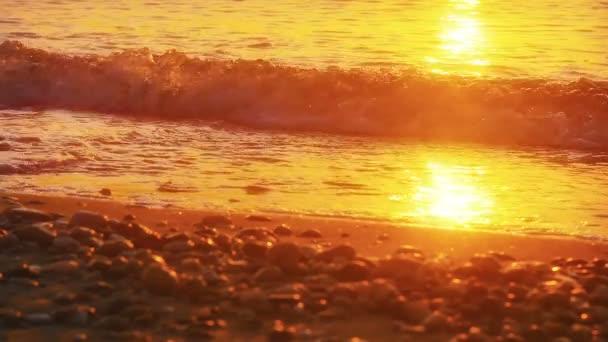 Sunrise hullám tenger lassú mozgás