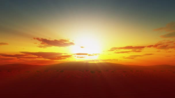 západ slunce nad pouští sahara