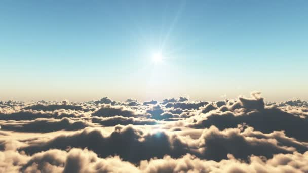 fly over clouds sunset 4k