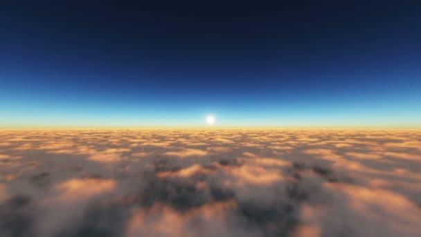 repül a naplemente felhők felett napsugár