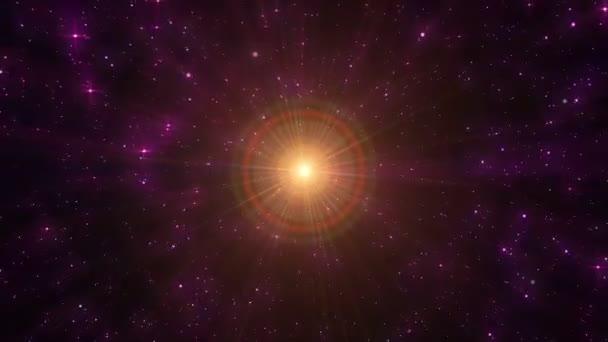 hvězdy létají v prostoru abstraktní