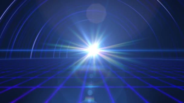 budoucí podlaží paprsek světlo tunel 4k