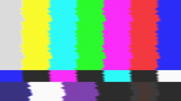 Žádný signál blikání analogový televizní signál s špatné rušení, statické a pruhy barev, závada