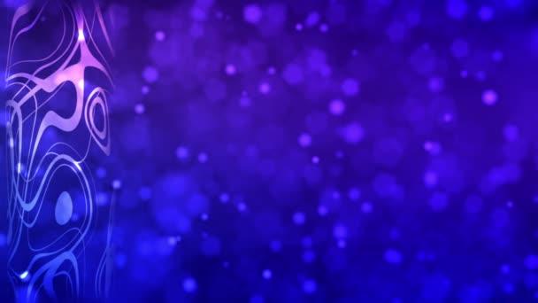 Absztrakt hurok 3D animáció. Lila és rózsaszín színek. Háttér
