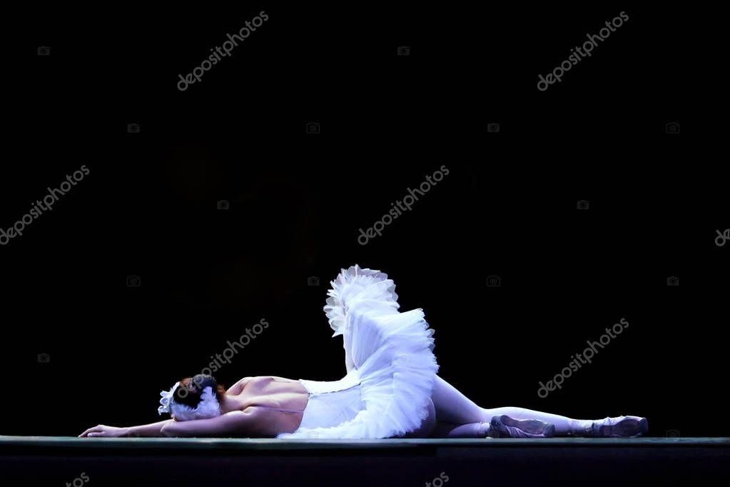 Ballet dancer on the stage