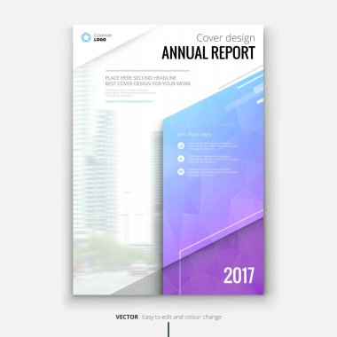 Cover design for annual report