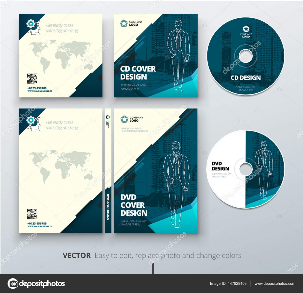 cd envelope dvd case design teal corporate business template for