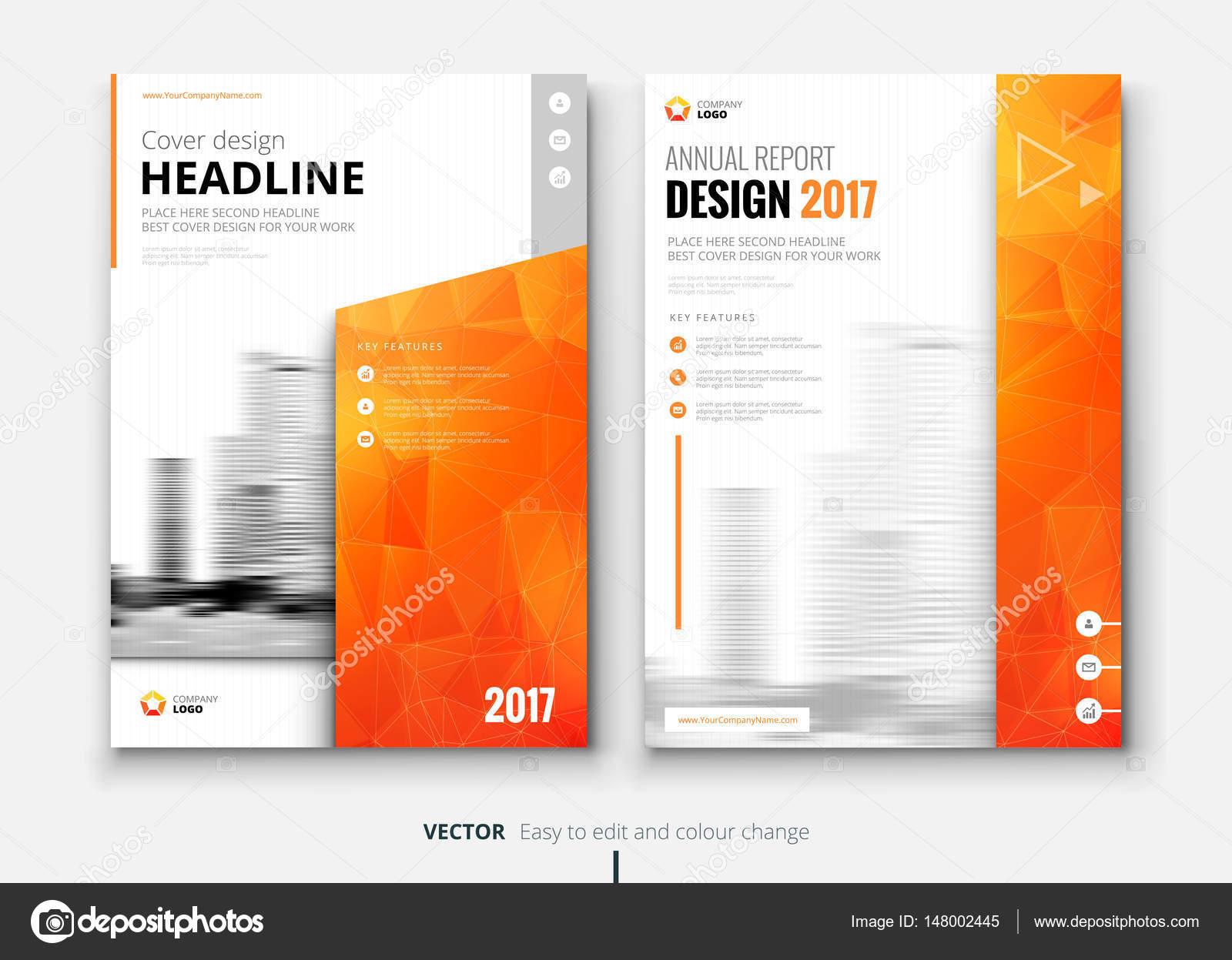 Broschüren-Design-Vorlage für den Geschäftsbericht — Stockvektor ...