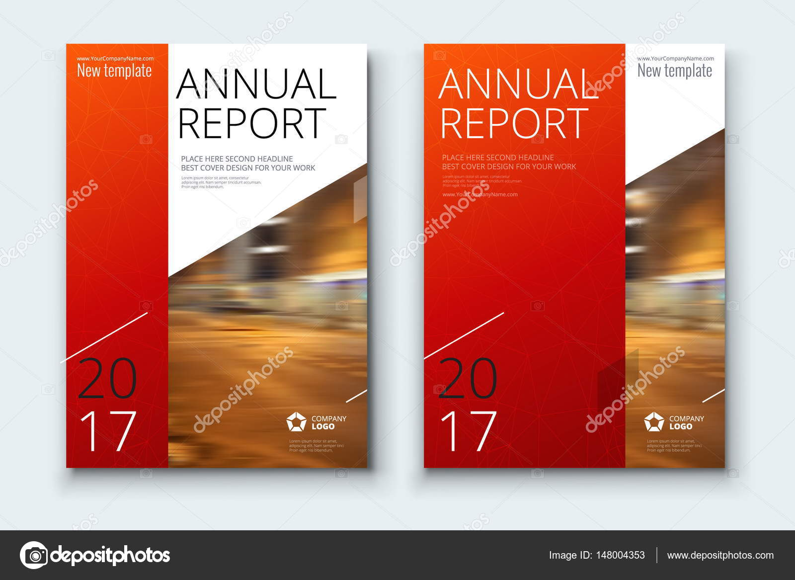 corporate business annual report covers stock vector