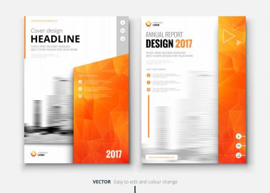 Brochures design template for annual report