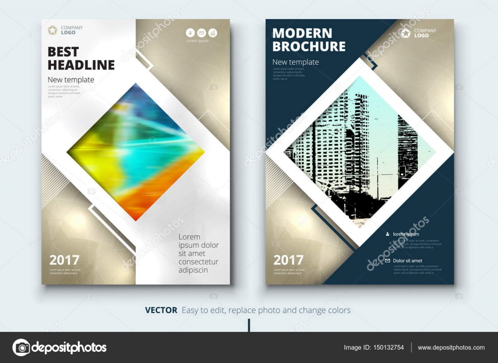 corporate business annual report cover brochure or flyer design leaflet presentation catalog with abstract geometric background