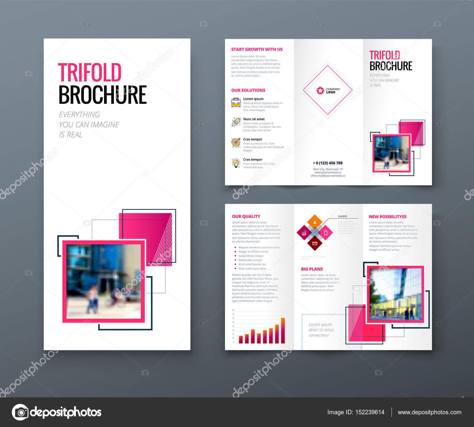 tri fold brochure design corporate business template for tri fold