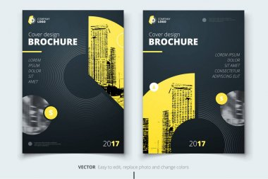 Brochure design. Corporate business report cover, brochure or fl
