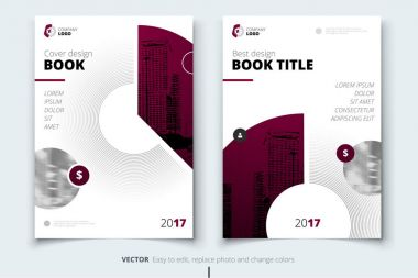 Brochure design. Corporate business report cover, brochure or flyer design. Leaflet presentation. Flyer with abstract circle, round shapes background. Modern poster magazine, layout, template. A4. clip art vector