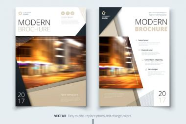 Cover design for brochure, flyer, report, catalog, presentation, poster. Modern layout template in A4 size stock vector