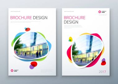 Brochures templates layout design