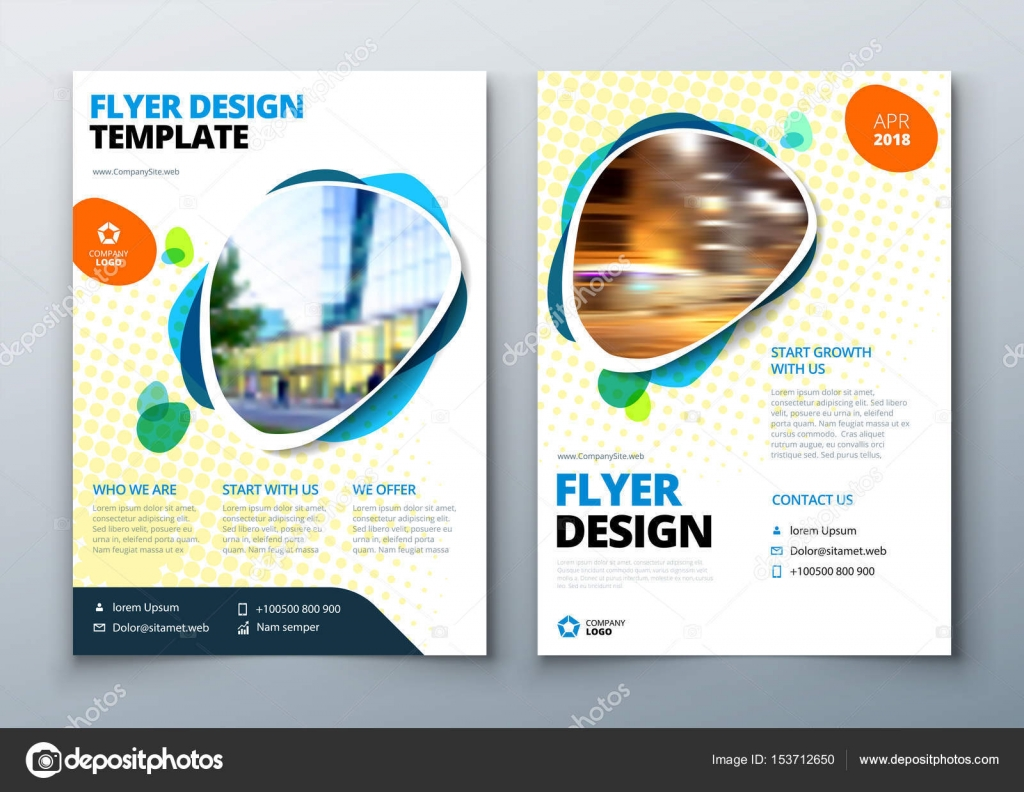 Flyer template layout design business flyer brochure magazine or flyer template layout design business flyer brochure magazine or flier mockup in bright flashek Choice Image