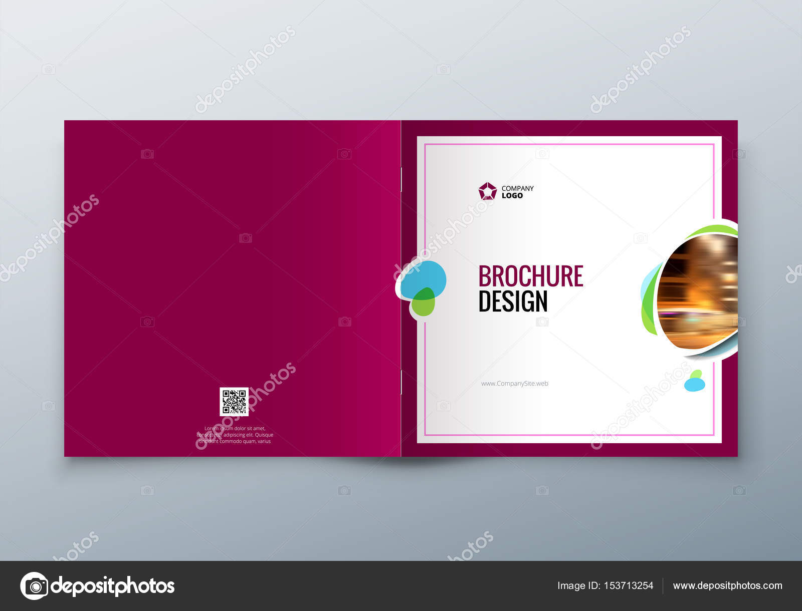 Square brochure design corporate business template for rectangle corporate business template for rectangle brochure report catalog magazine corporate business annual report cover brochure or flyer design vector by flashek Choice Image