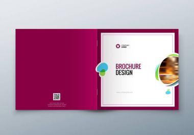 Square Brochure design. Corporate business template for rectangle brochure, report, catalog, magazine. Corporate Business Annual Report Cover, brochure or flyer design.