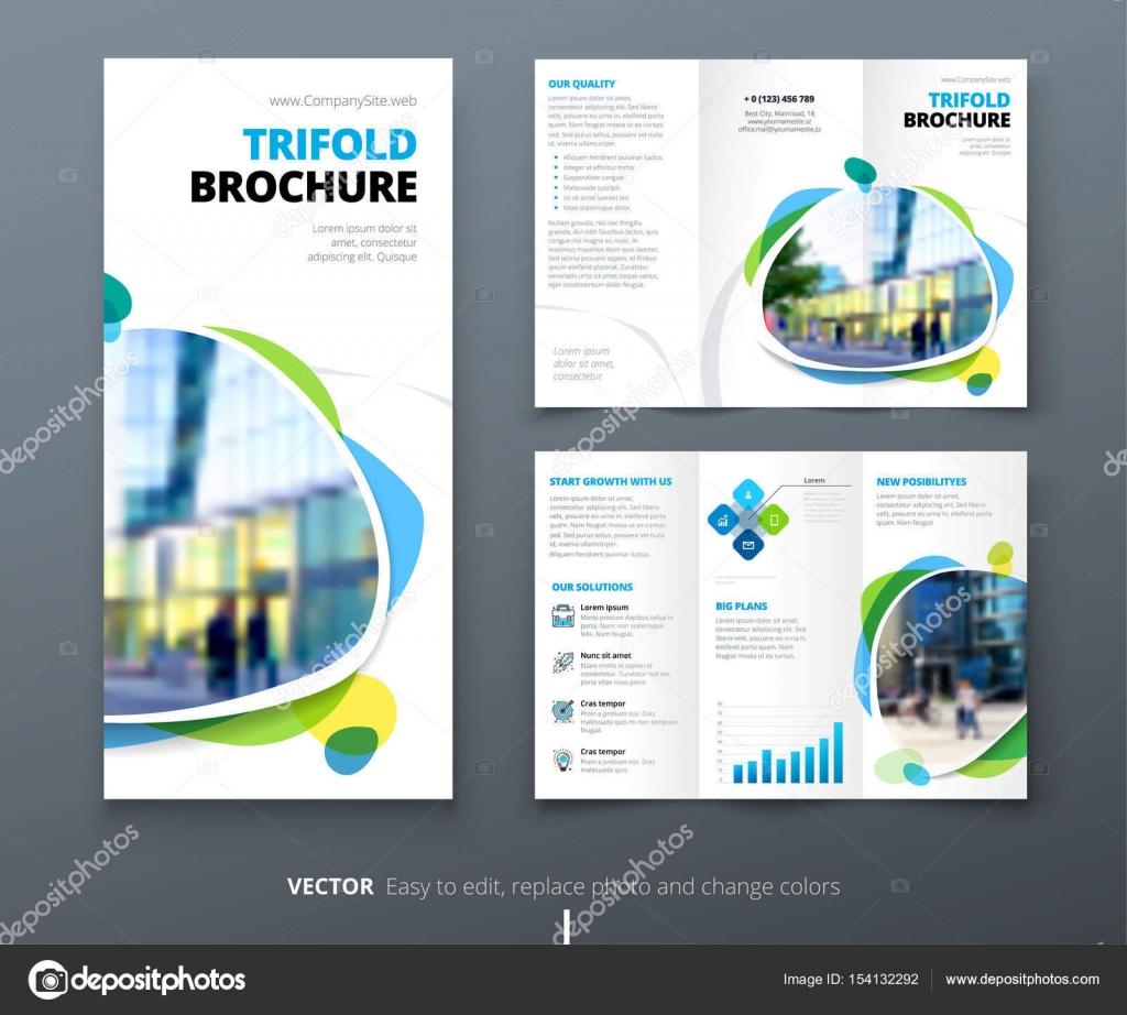 Diseño de folleto de triple pliegue de negocio — Archivo Imágenes ...