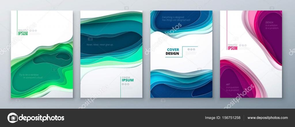 Papier Schneiden Broschüre Designpapier Schnitzen Abstrakte