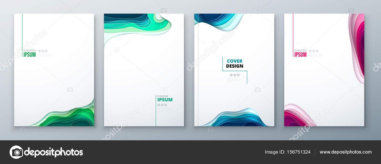 Papier Schneiden Broschure Designpapier Schnitzen Abstrakte