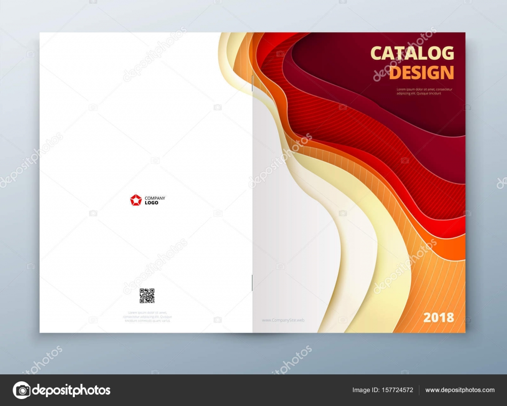 catalog cover design template stock vector greatbergens 157724572
