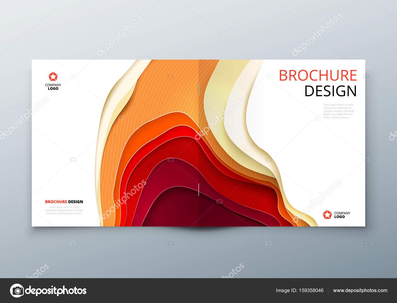 Quadratische Broschüre Design Rechteck Papier Schnitzen Abstrakte