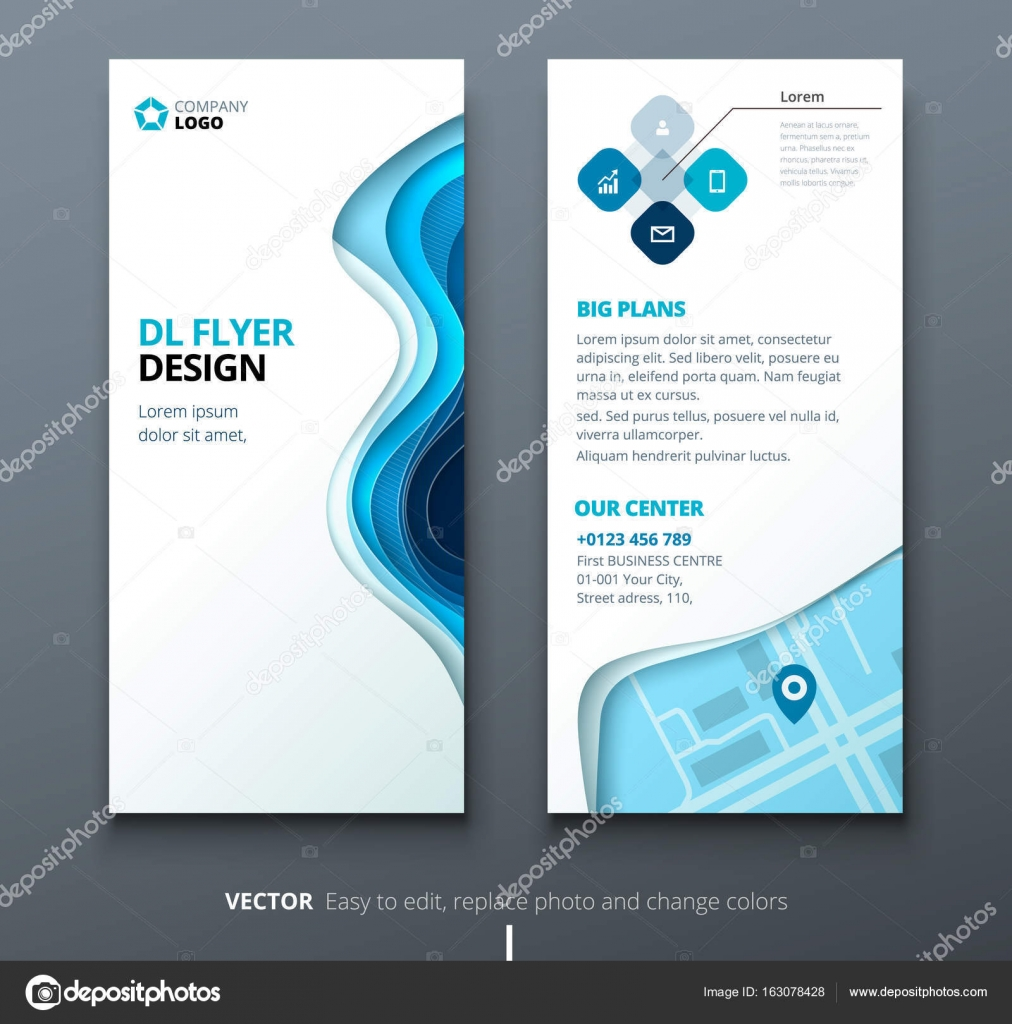 DL flyer design. Corporate business template for brochure or flyer ...