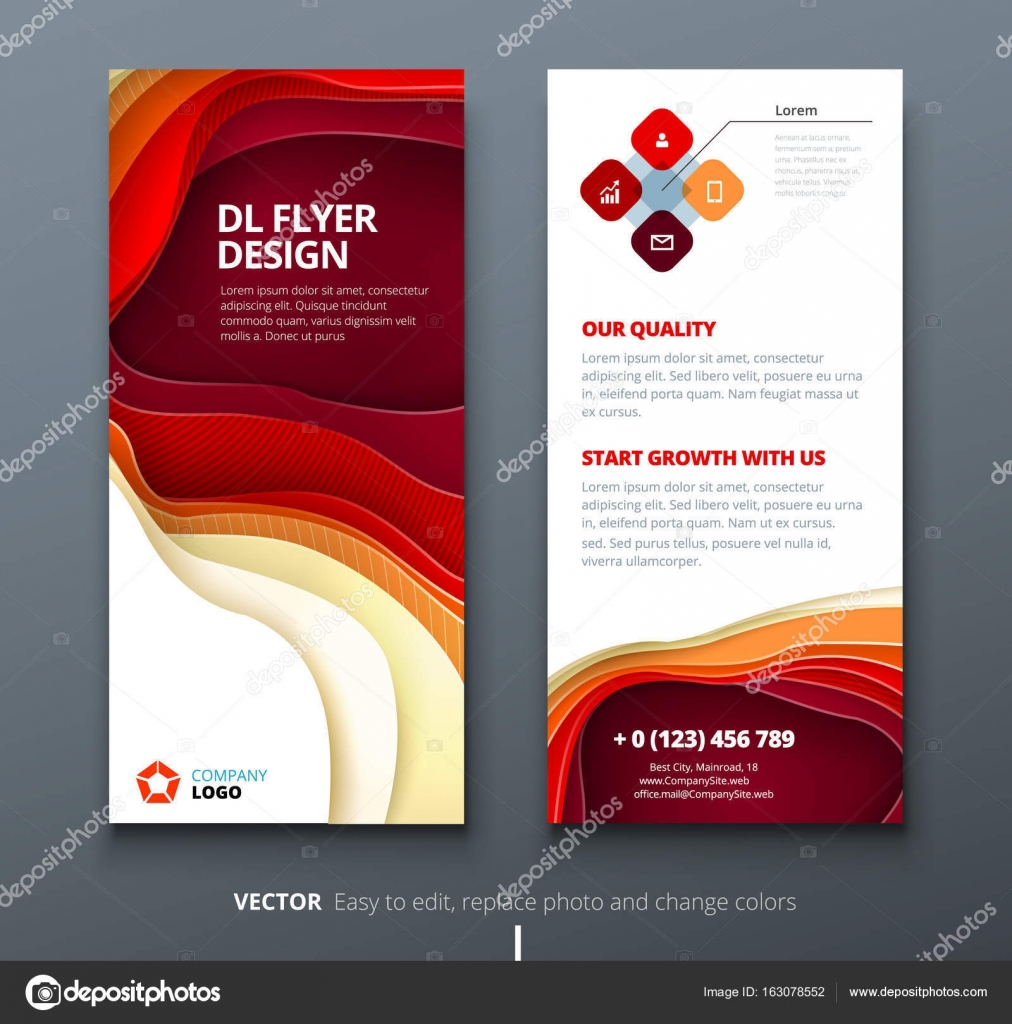 dl flyer design corporate business template for brochure or flyer