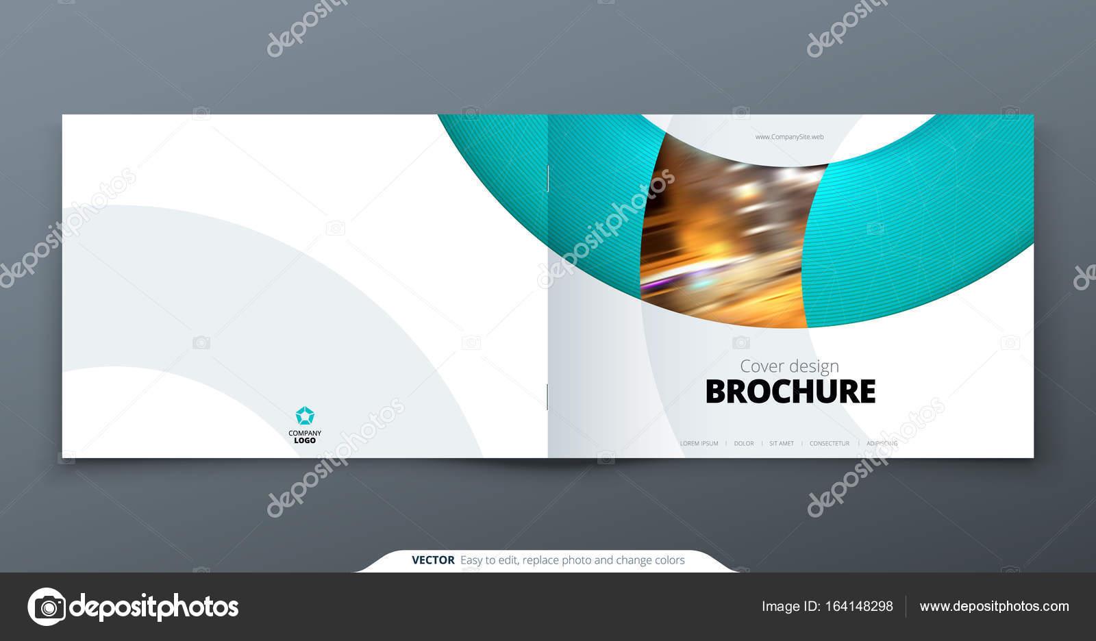 Landscape Brochure Design Teal Corporate Business Rectangle