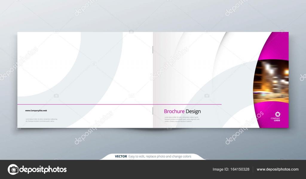 Landscape Brochure Design Pink Magenta Fashion Beauty Rectangle