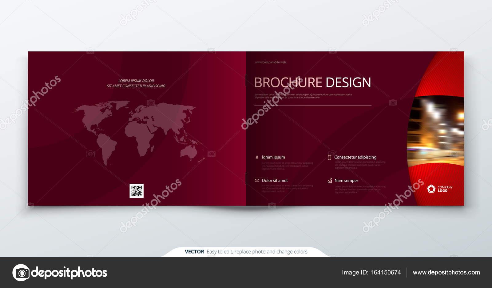 Landscape Brochure design  Magenta corporate business