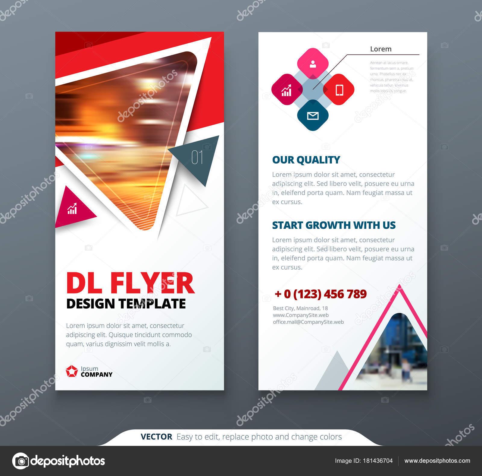 Flyer Design Red Orange Template Flyer Banner Layout Modern Triangle ...
