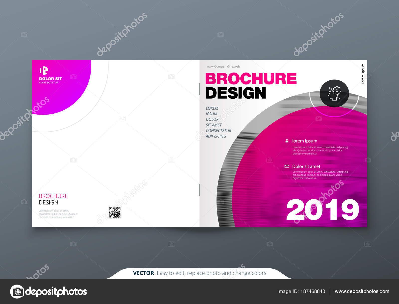 Depositphotos 187468840 Stock Illustration Square Brochure Design Magenta Corporate