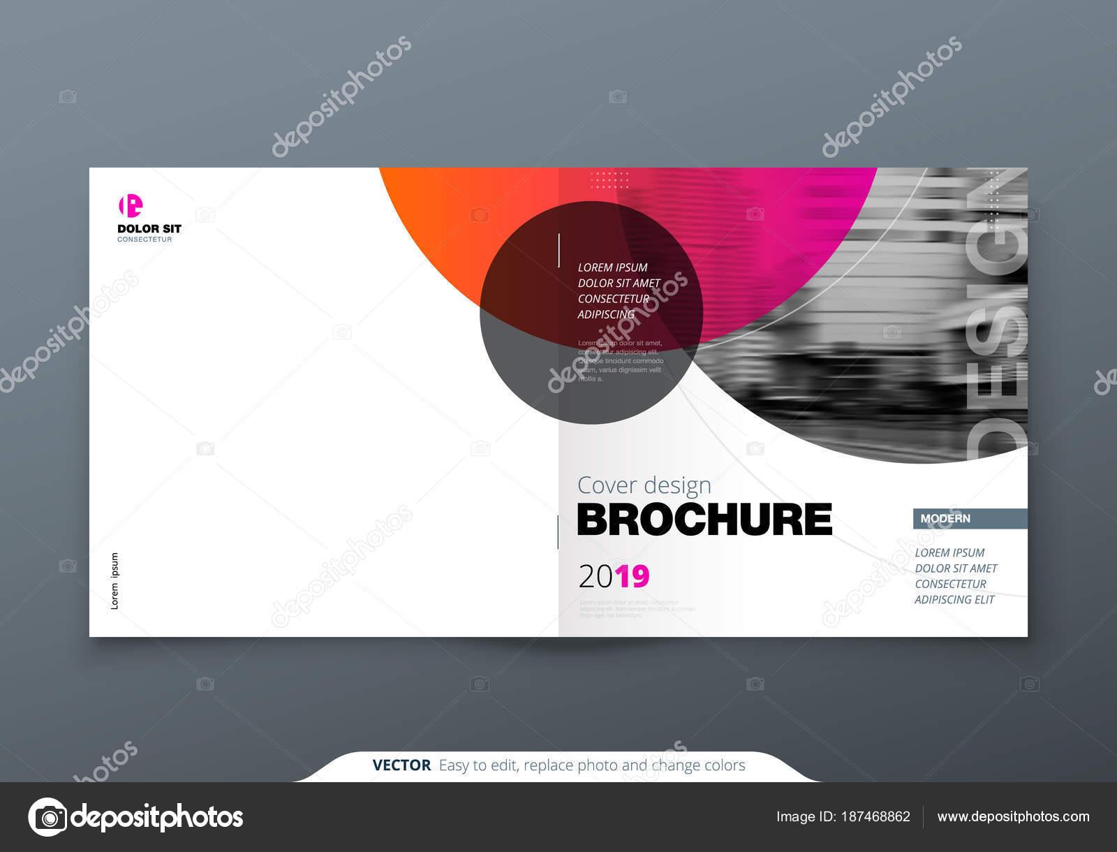 Quadratische Broschüre Design. Magenta rot Firmenkundengeschäft ...