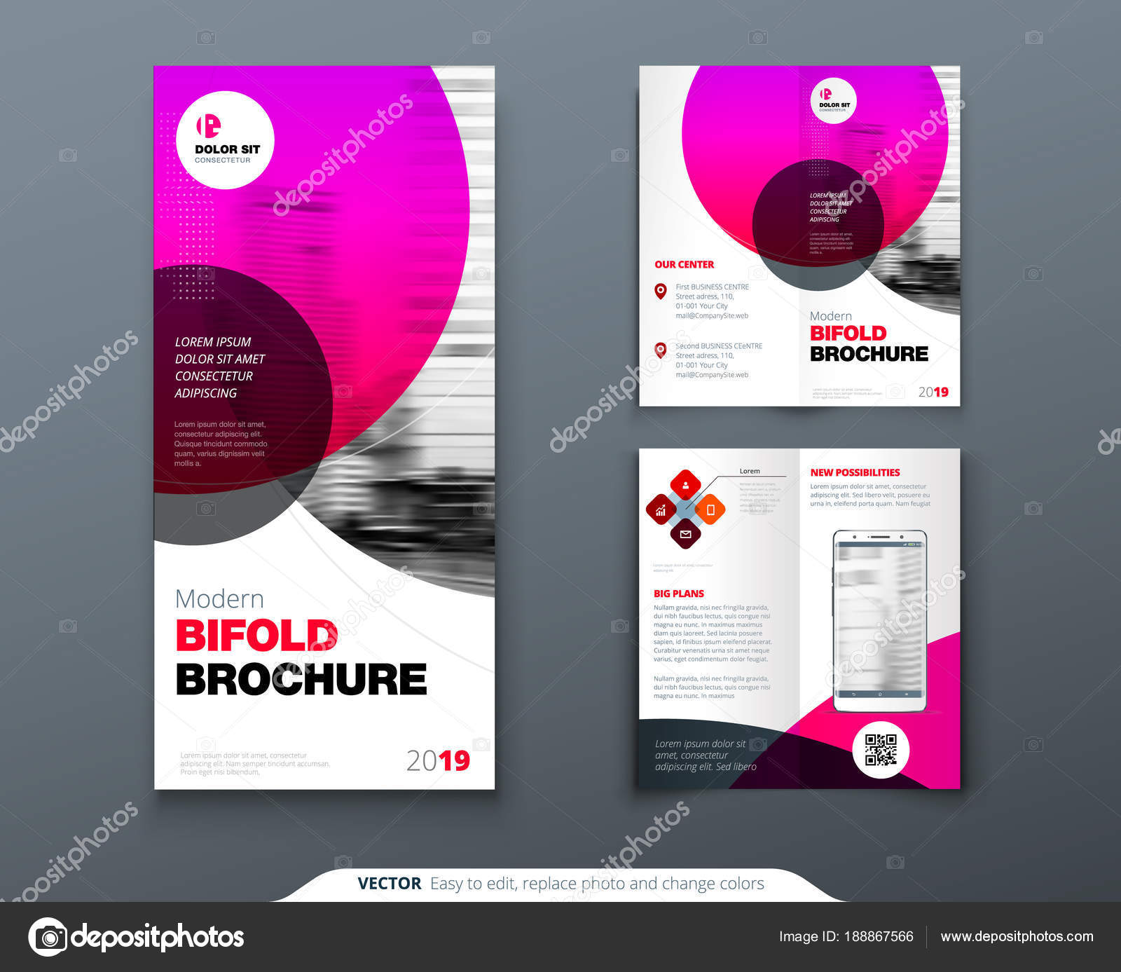 tri fold brochure design pink business template for tri fold flyer