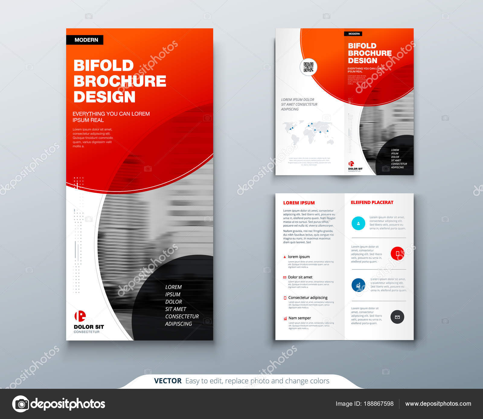 tri fold brochure design red business template for tri fold flyer layout with modern