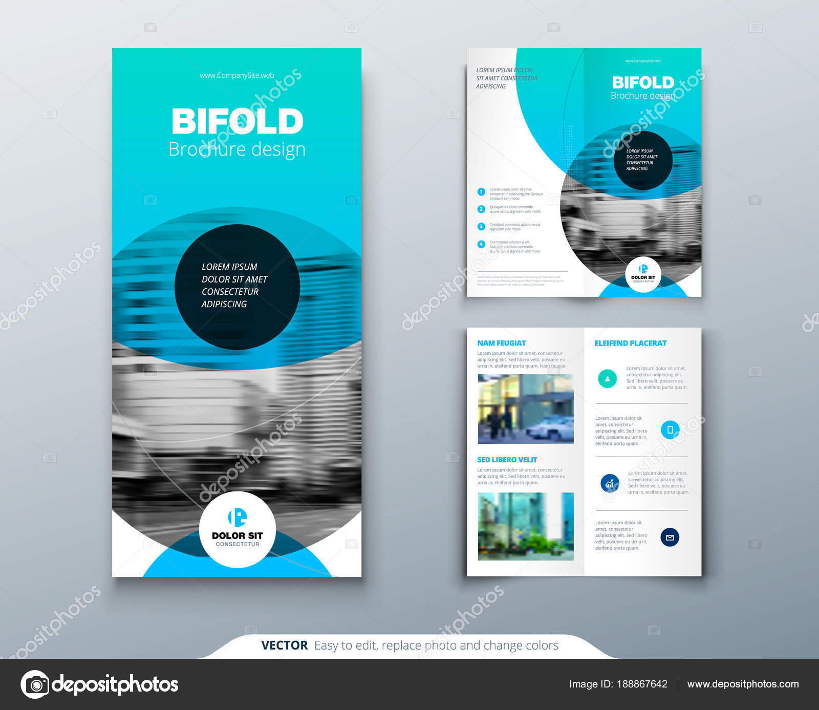 tri fold brochure design blue business template for tri fold flyer