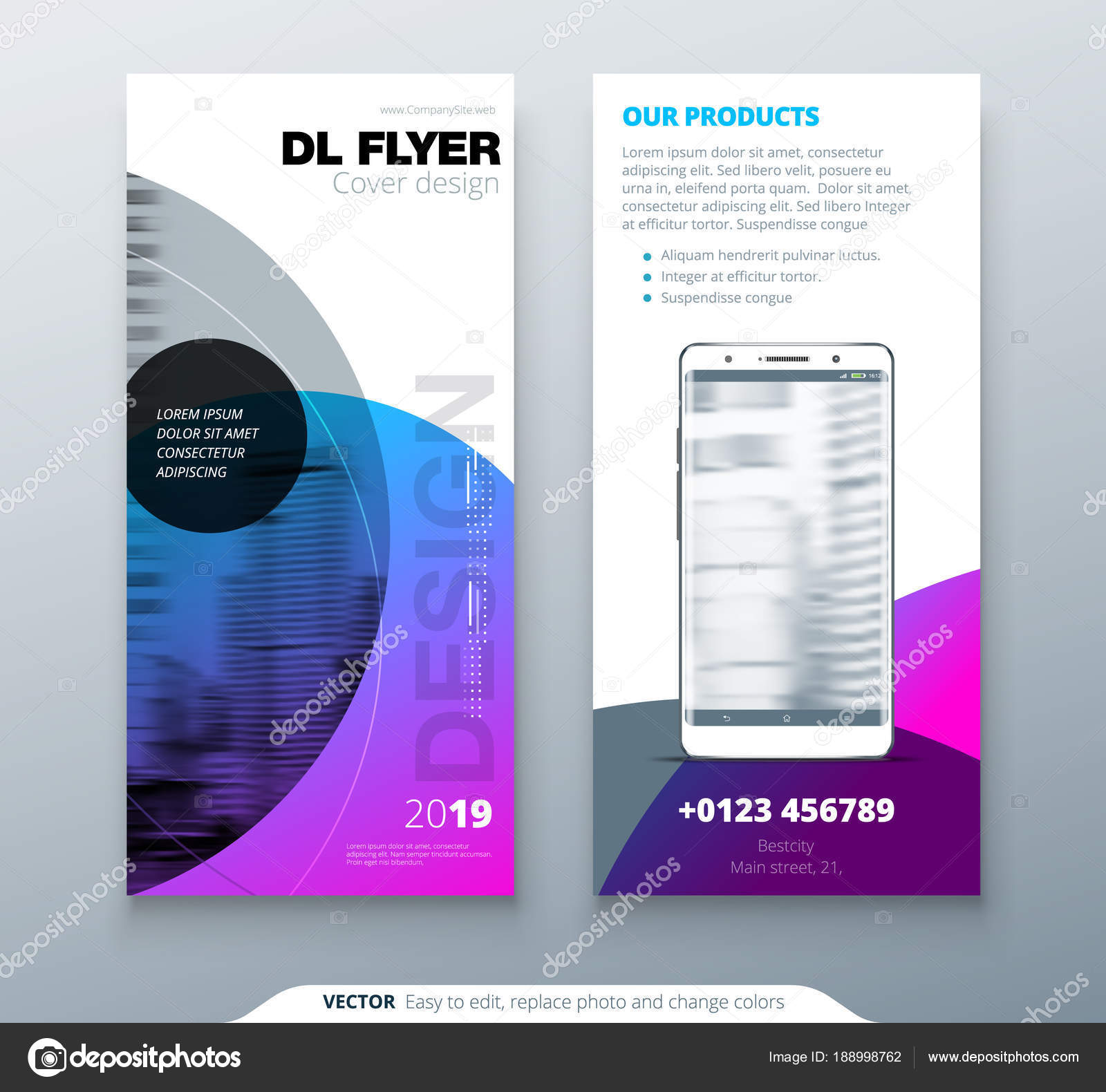 Dl Flyer Design Purple Business Template For Dl Flyer Layout With