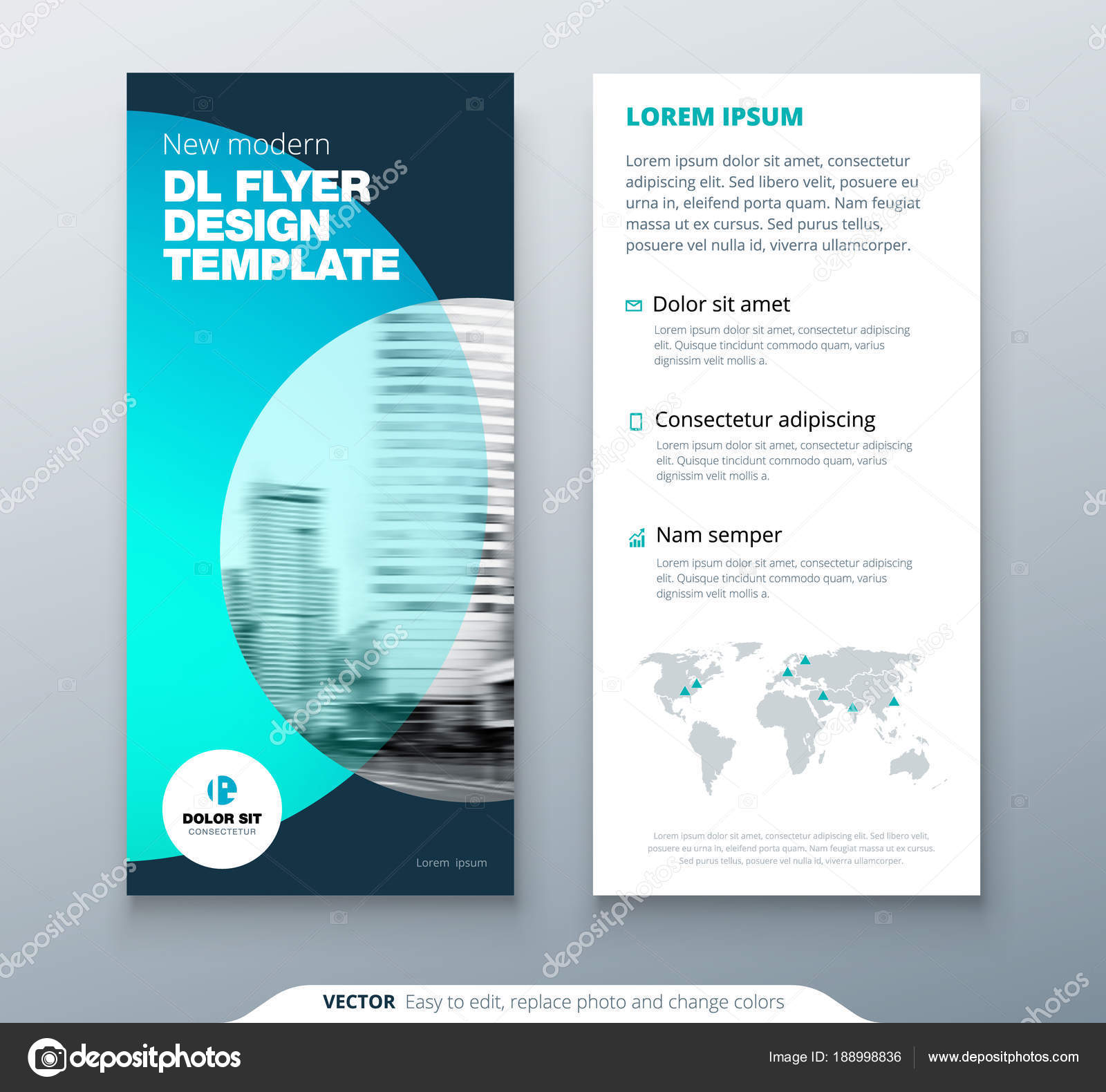 dl flyer design teal business template for dl flyer layout with