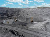 Photo Open pit mine, breed sorting, mining coal, extractive industry anthracite, Coal industry