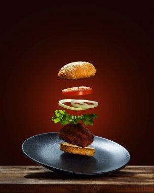 Flying Ingredients Burger