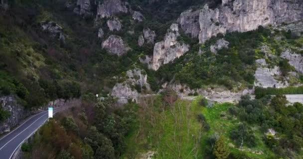 Letecký Přelet nad pobřeží Amalfi.