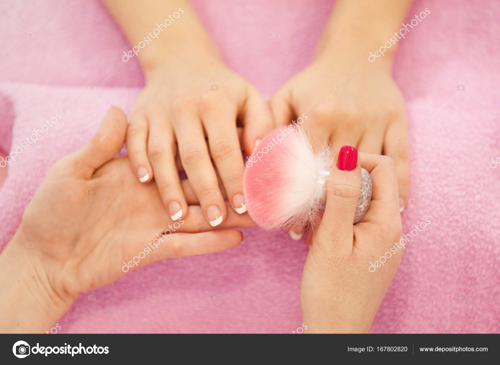 French manicure. Well Manicured Nails. — Stock Photo © grki #167802820