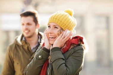 Happy Couple in Love Enjoying Holidauys
