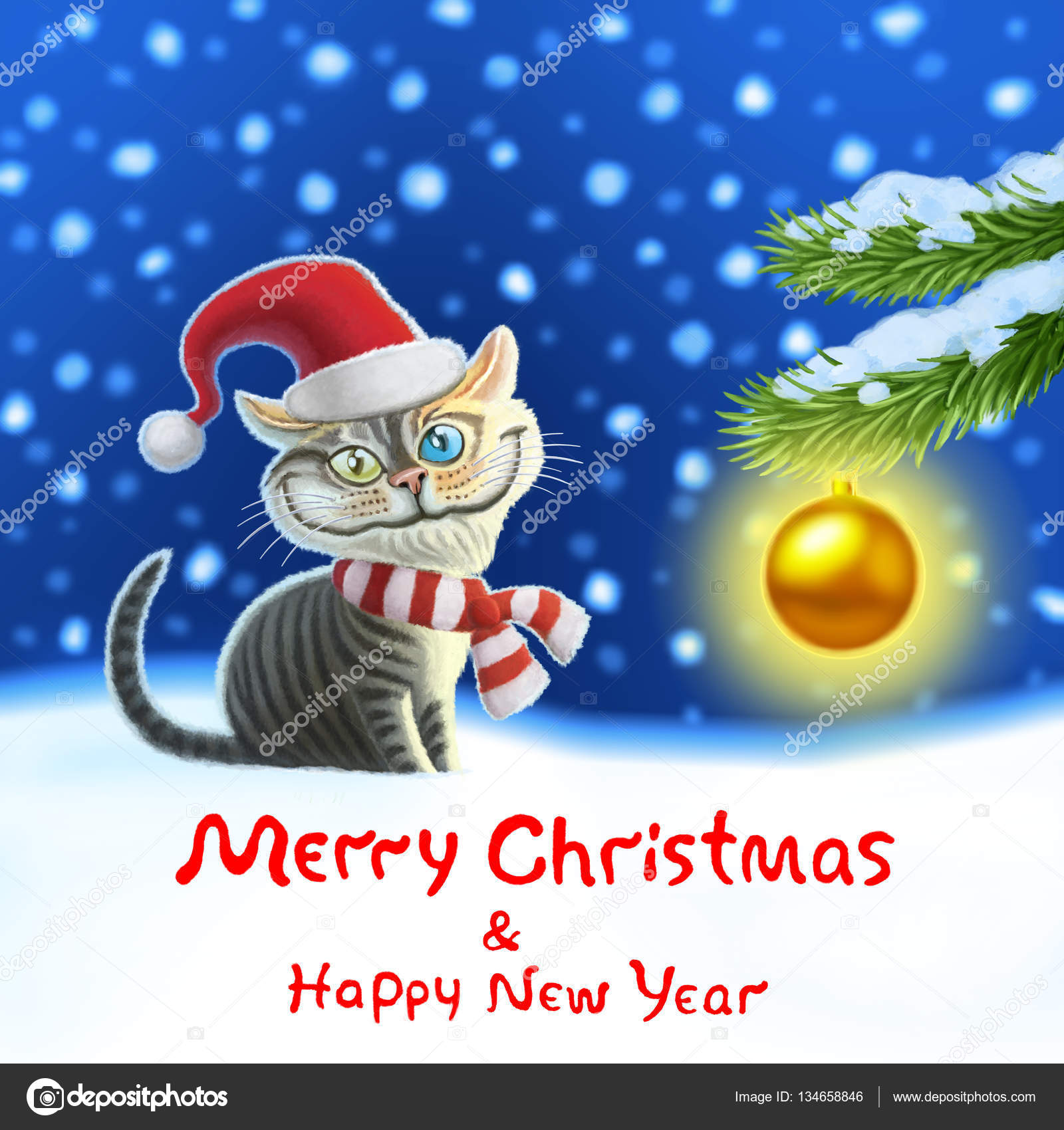 Cheerful Cat Martin Wishes Everyone A Merry Christmas U0026 Happy New Year ! U2014  Photo By Likozor