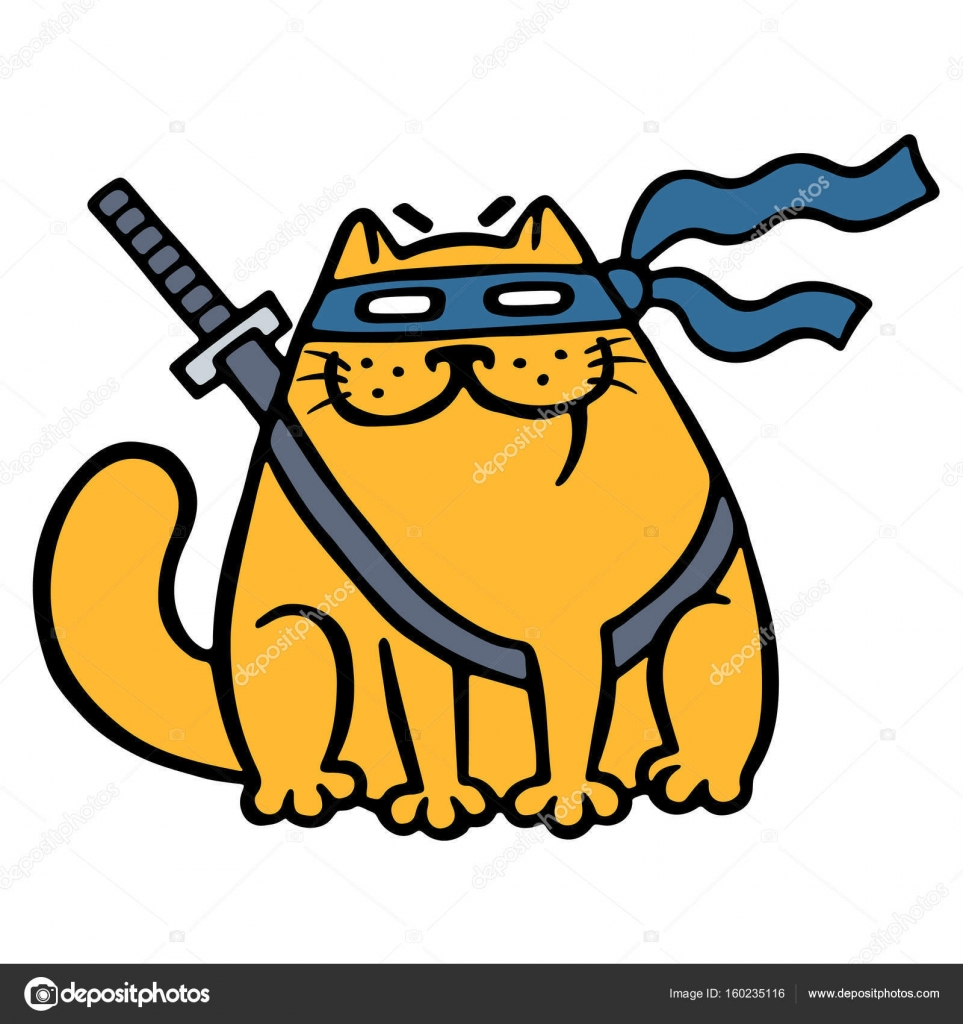 Мультик ниндзя кот