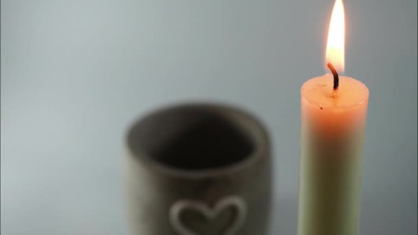 FullHD_Time Lapse White Candle Consuming