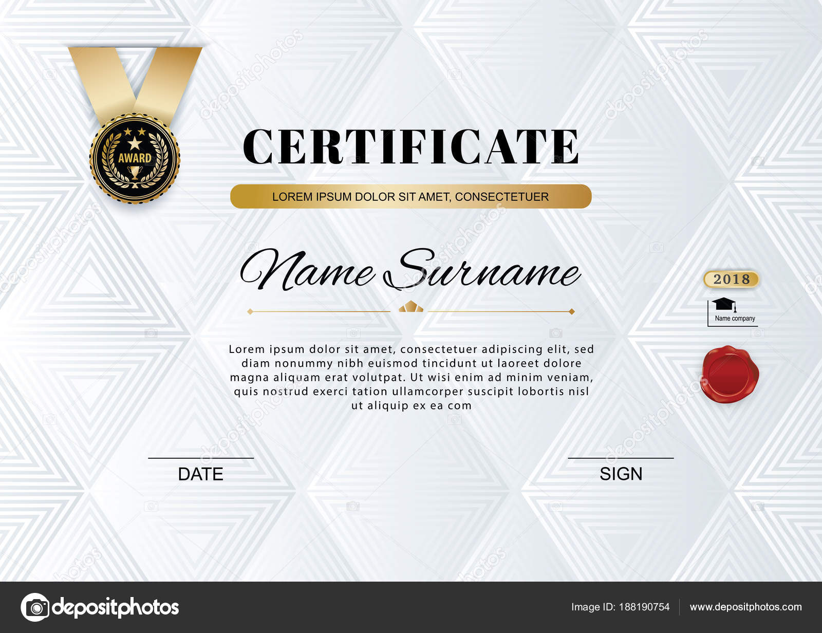 official white certificate of appreciation award template with thin